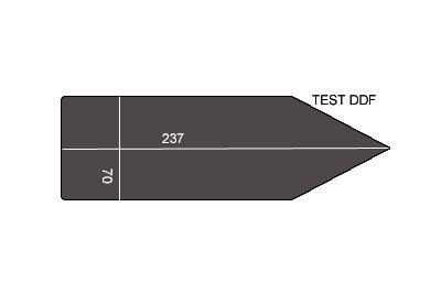 V.5000 TEST DDF      SEMELLE TEFLON FER A REPASSER RENFORCEE