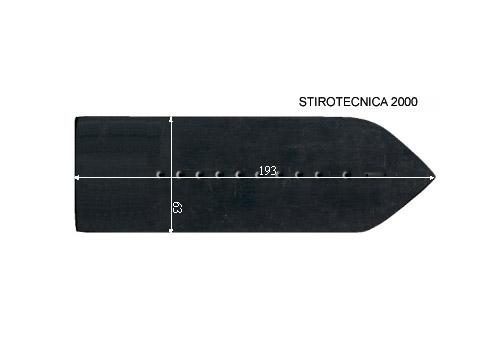 V.5505 STIROTECNICA 2000      SEMELLE TEFLON FER A REPASSER RENFORCEE