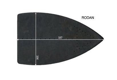V.5805 RODAN      SEMELLE TEFLON FER A REPASSER RENFORCEE