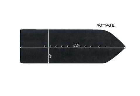 V.6300 ROTTAG E.      SEMELLE TEFLON FER A REPASSER RENFORCEE