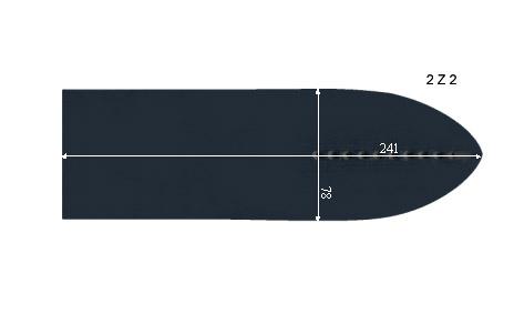 V.6450 TEST 2-Z-2      SEMELLE TEFLON FER A REPASSER RENFORCEE