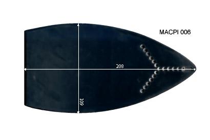 V.6550 MACPI 006      SEMELLE TEFLON FER A REPASSER RENFORCEE