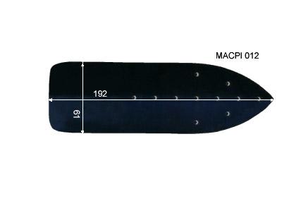 V.6900 MACPI 012 TURBO      SEMELLE TEFLON FER A REPASSER RENFORCEE