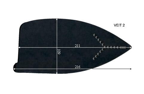 V.7050 VEIT 2      SEMELLE TEFLON FER A REPASSER RENFORCEE