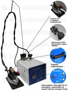MOD.303 - Générateur centrale vapeur chaudière INOX 3 litres