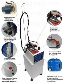 Mod.306.31 - Générateur de vapeur SEMI-AUTOMATIQUE chaudière 5 litres + Réserve 30 litres - DOUBLE ÉLECTROVANNES
