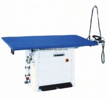 BOLZANO - TABLE A REPASSER RECTANGULAIRE PROFESSIONNELLE CHAUFFANTE, ASPIRANTE ET VAPORISANTE.