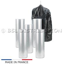 Lot de 5 Rouleaux de 250 housses 600 x 1250 avec 2 soufflets de 200 en 25µ pour couvertures ou couettes