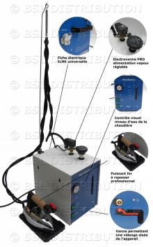 MOD.306 - Générateur centrale vapeur chaudière INOX 5 litres