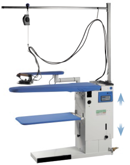 table repasser industrielle avec autonomie vapeur illimit e. Black Bedroom Furniture Sets. Home Design Ideas