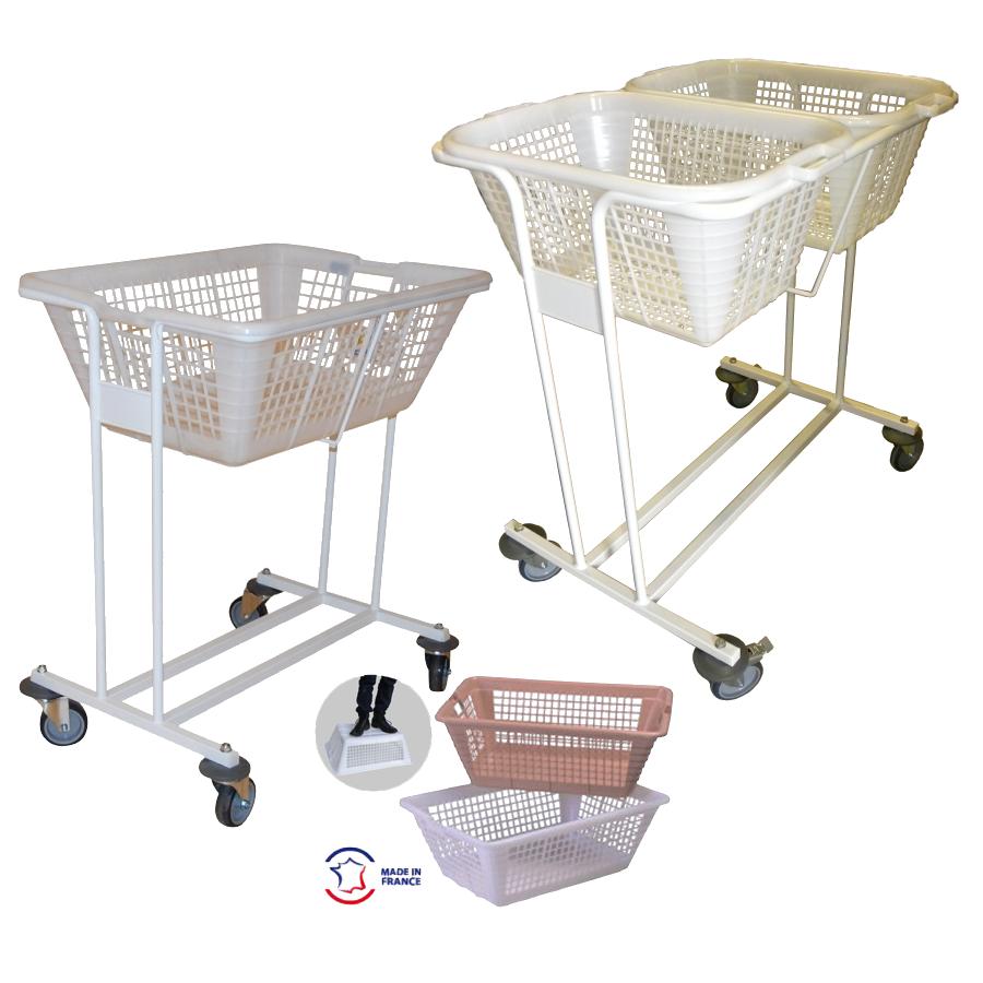 chariot porte corbeille corbeille linge transport blanchisserie. Black Bedroom Furniture Sets. Home Design Ideas
