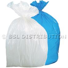Sac poubelle polyéthylène 20 Litres Blanc ou Bleu, le lot de 1000 sacs.