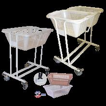 Chariot à linge porte-corbeille ou corbeille à linge