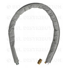 Tuyau flexible vapeur Téflon 1000MM M/M + Raccords 1/2