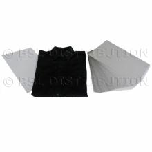 Plastron en carton pour chemise 22.5 x 34.5cm, par 250 pcs