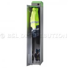 Vestiaire individuel séchant pour équipements de protection et combinaisons.