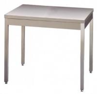 Table INOX piétements carrés SANS DOSSERET (largeur 600mm)