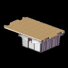 Plateau perforé complet avec tiroir avec serrure et guides