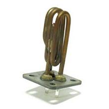 Résistance électrique chauffante à bride carrée 4 trous COMEL avec sonde