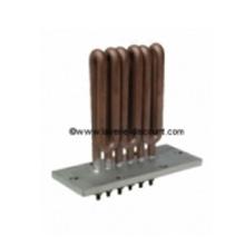 Résistance électrique chauffante à bride rectangulaire 6 trous MAX STIR