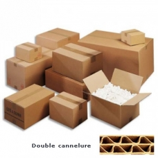 Caisse américaine carton simple cannelure 27 x 19 x 12 cm