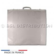 Sac à poignée pour emballage / transport couette - Transparent (100 pièces)