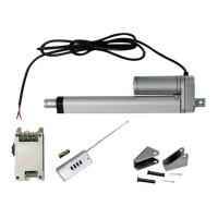 Vérin actionneur linéaire électrique (Kit complet) 350 mm 14