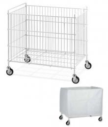 Chariot à linge de blanchisserie pliable - 340 L