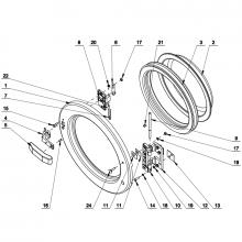 Schéma technique Diverses parties de hublot PRIMUS