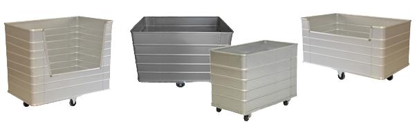 Chariot à linge pour laverie, blanchisserie - FOND FIXE