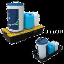 Bac de rétention pour liquides polluants et produits dangereux, bac  polyéthylène 30 Litres.