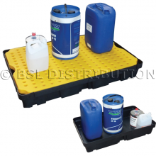 Bac de rétention pour liquides polluants et produits dangereux, bac polyéthylène 100 Litres.