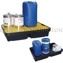 Bac de rétention pour liquides polluants et produits dangereux, bac polyéthylène 40 Litres.