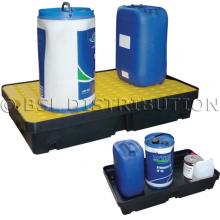 Bac de rétention pour liquides polluants et produits dangereux, bac polyéthylène 60 Litres.