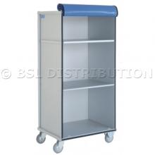 Chariot armoire à linge 2 étagères amovibles