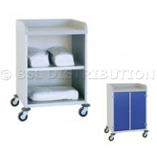 Chariot armoire à linge 1 étagère avec plateau