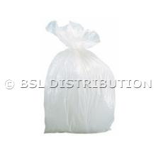 Sac poubelle polyéthylène 5 Litres Blanc, le lot de 1000 sacs.