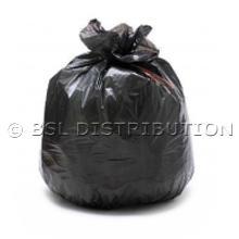 Sac poubelle polyéthylène 130 Litres Noir, le lot de 100 sacs.