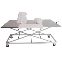 Table de tri et de pliage à hauteur réglable INOX. (Ergonomique)