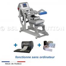 Presse AUTOMATIQUE pour étiquette thermocollante - Thermofixer / Marquage du linge professionnel.