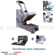 Presse MANUELLE pour étiquette thermocollante - Thermofixer / Marquage du linge professionnel.