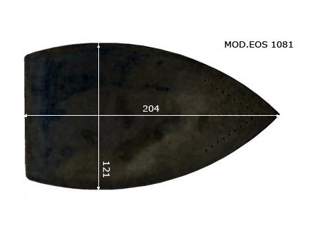 MOD.EOS PRO (BATTISTELLA : DIANA, VAPORBABY, VAPORINO) Semelle téflon fer à repasser, renforcée. 121 x 204 mm.