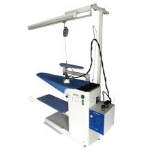 MILANO - Table à repasser professionnelle<br /> Aspirante, Chauffante + Soufflante.<br /> + Kit de suspension et d'éclairage + Générateur vapeur 5 L