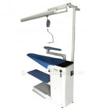 MILANO - Table à repasser professionnelle<br /> Aspirante, Chauffante.<br /> + Kit de suspension et d'éclairage