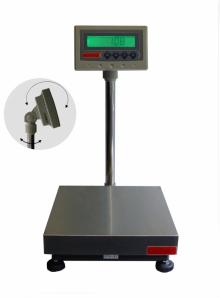 Balance de Pesage INOX avec colonne et indicateur, étanche. Portée 15 à 150kg. ( CZ )