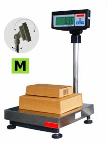 Balance commerciale Homologuée Pesage Poids / Prix. Avec colonne et indicateur. Portée 60 à 300kg. ( PV )