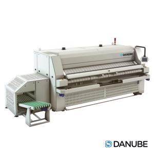 DANUBE SPE600-3300 - Sécheuse repasseuse professionnelle, cylindre 600 x 3300 mm Automatique. (Déstockage)