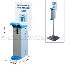 Distributeur de gel hydroalcoolique manuel.