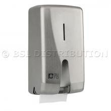 Distributeur ACIER INOX papier toilette professionnel rouleau Ø120mm
