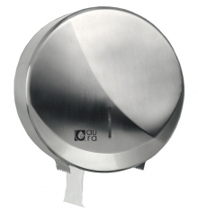 Distributeur ACIER INOX papier toilette professionnel rouleau Ø220mm